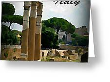 Rome Italy Poster Greeting Card by John Malone