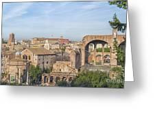 Rome Roman Forum 01 Greeting Card