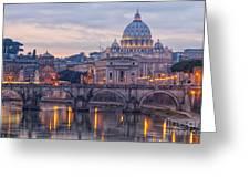 Rome Saint Peters Basilica 01 Greeting Card