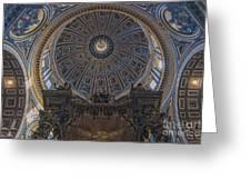 Rome Saint Peters Basilica Interior 01 Greeting Card