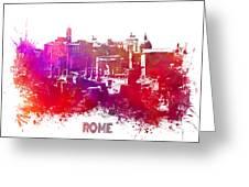 Rome Skyline Greeting Card
