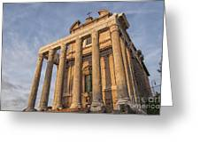 Rome Temple Of Antoninus And Faustina 01 Greeting Card