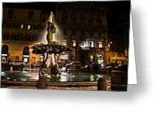 Rome's Fabulous Fountains - Fontana Del Tritone Greeting Card