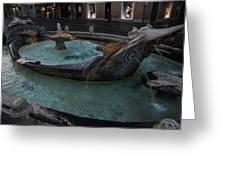 Rome's Fabulous Fountains - Fontana Della Barcaccia - Spanish Steps  Greeting Card