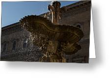 Rome's Fabulous Fountains - Piazza Farnese Fountain Greeting Card