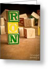 Ron - Alphabet Blocks Greeting Card