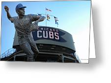 Ron Santo Chicago Cubs Statue Greeting Card