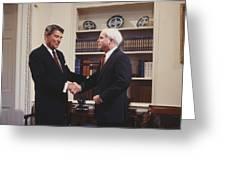 Ronald Reagan And John Mccain Greeting Card