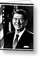 Ronald Reagan Greeting Card by Benjamin Yeager