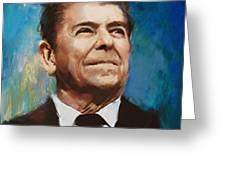 Ronald Reagan Portrait 6 Greeting Card