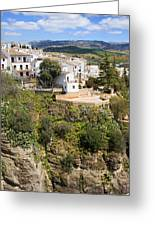 Ronda Houses On A Rock Greeting Card