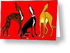 Roo Greyhounds Greeting Card