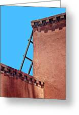 Roof Corner With Ladder Greeting Card