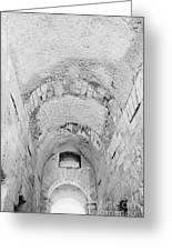 Roof Details Of Entrance Archway Of The Old Roman Colloseum At El Jem Tunisia Greeting Card