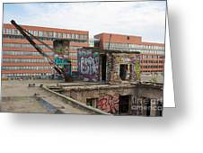 Roof Of The Alte Eisfabrik Ruin In Berlin Greeting Card