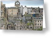 Roofs Of Edinburgh  Greeting Card