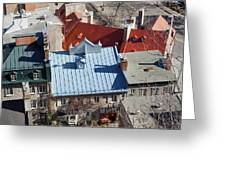 Roofs Of Quebec Greeting Card