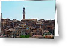 Roofs Of Siena Greeting Card