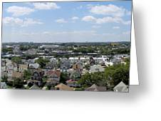 Jamaica Ny Rooftop Panorama Greeting Card