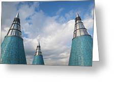 Rooftop Towers At Museum Of Technology Greeting Card