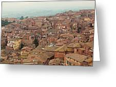Rooftop View Of Siena Italy Greeting Card
