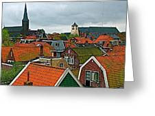 Rooftops From Our Host's Apartment In Enkhuizen-netherlands Greeting Card