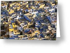 Rooftops In India Greeting Card