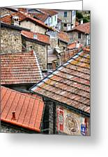 Rooftops Of Apricale.italy Greeting Card