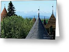 Rooftops Of Carcassonne Greeting Card