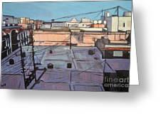 Rooftops Of Old San Juan Greeting Card