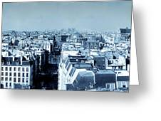 Rooftops Of Paris - Selenium Treatment Greeting Card