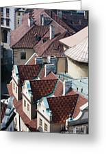 Rooftops Of Prague In Czechia Europe Greeting Card