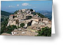 Rooftops Of The Italian City Greeting Card