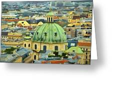 Rooftops Of Vienna Greeting Card