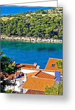 Rooftops Sea And Stone Islands Greeting Card