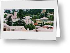 A Unique Aspect Of Rooftops In St. George's,  Bermuda Greeting Card
