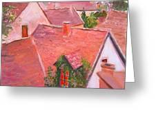 Rooftops Trogir Croatia Greeting Card
