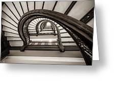 Rookery Building Off Center Oriel Staircase Greeting Card