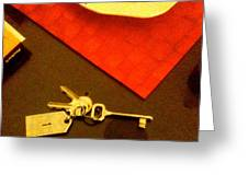 Room Key To The Caesar House In Rome Greeting Card