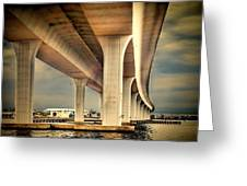 Roosevelt Bridge-1 Greeting Card by Rudy Umans