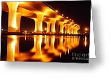 Roosevelt Bridge Greeting Card by Lynda Dawson-Youngclaus
