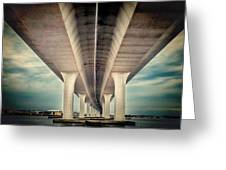 Roosevelt Bridge Greeting Card by Rudy Umans