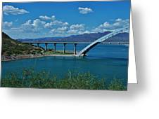 Roosevelt Lake 3 - Arizona Greeting Card