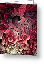 Rooster Abstract Greeting Card