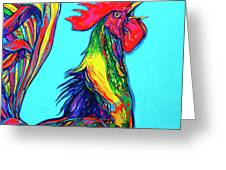 Rooster Crow Greeting Card
