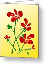Rooster Flowers Greeting Card