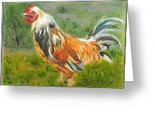 Rooster Rules Greeting Card