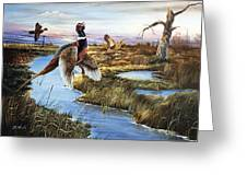 Roosters Rising Greeting Card