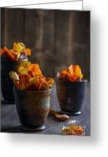 Root Vegetable Crisps Greeting Card