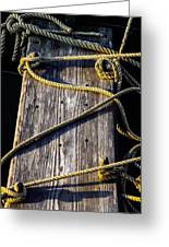 Rope And Wood Sidelight Textures Greeting Card